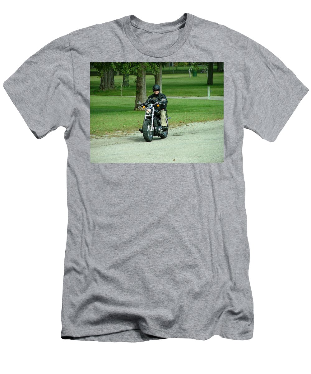 Bike Men's T-Shirt (Athletic Fit) featuring the photograph Out For A Ride by Dennis Pintoski