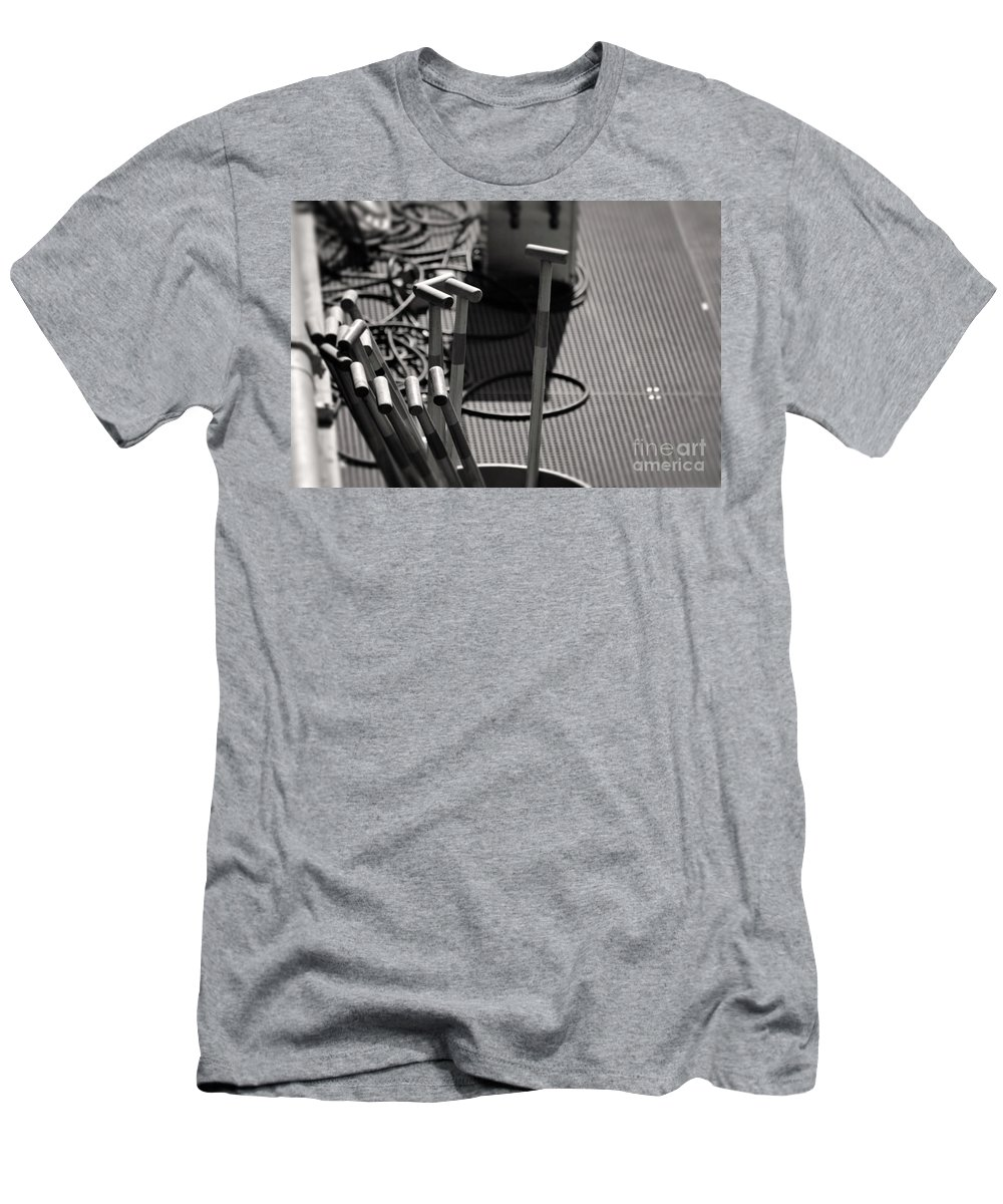 Dragon Boat Races Men's T-Shirt (Athletic Fit) featuring the photograph Paddles by Traci Cottingham