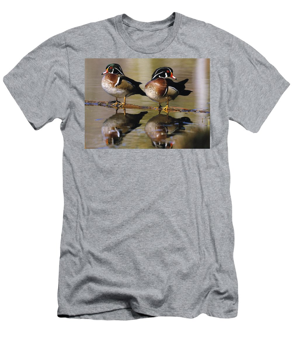 Outdoors Men's T-Shirt (Athletic Fit) featuring the photograph Pair Of Wild Birds by Natural Selection Bill Byrne