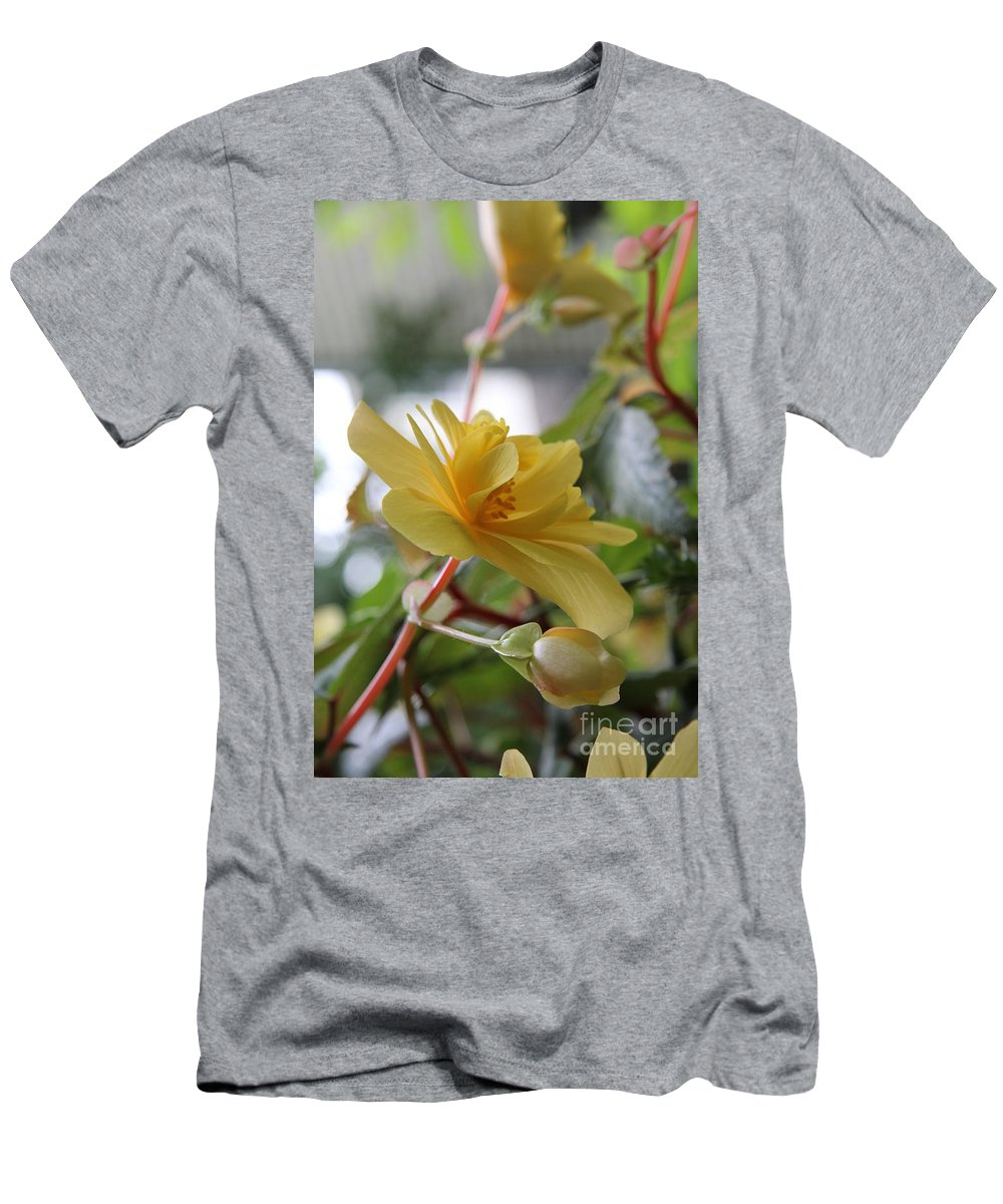 Yellow Men's T-Shirt (Athletic Fit) featuring the photograph Pale Yellow by Diane Greco-Lesser