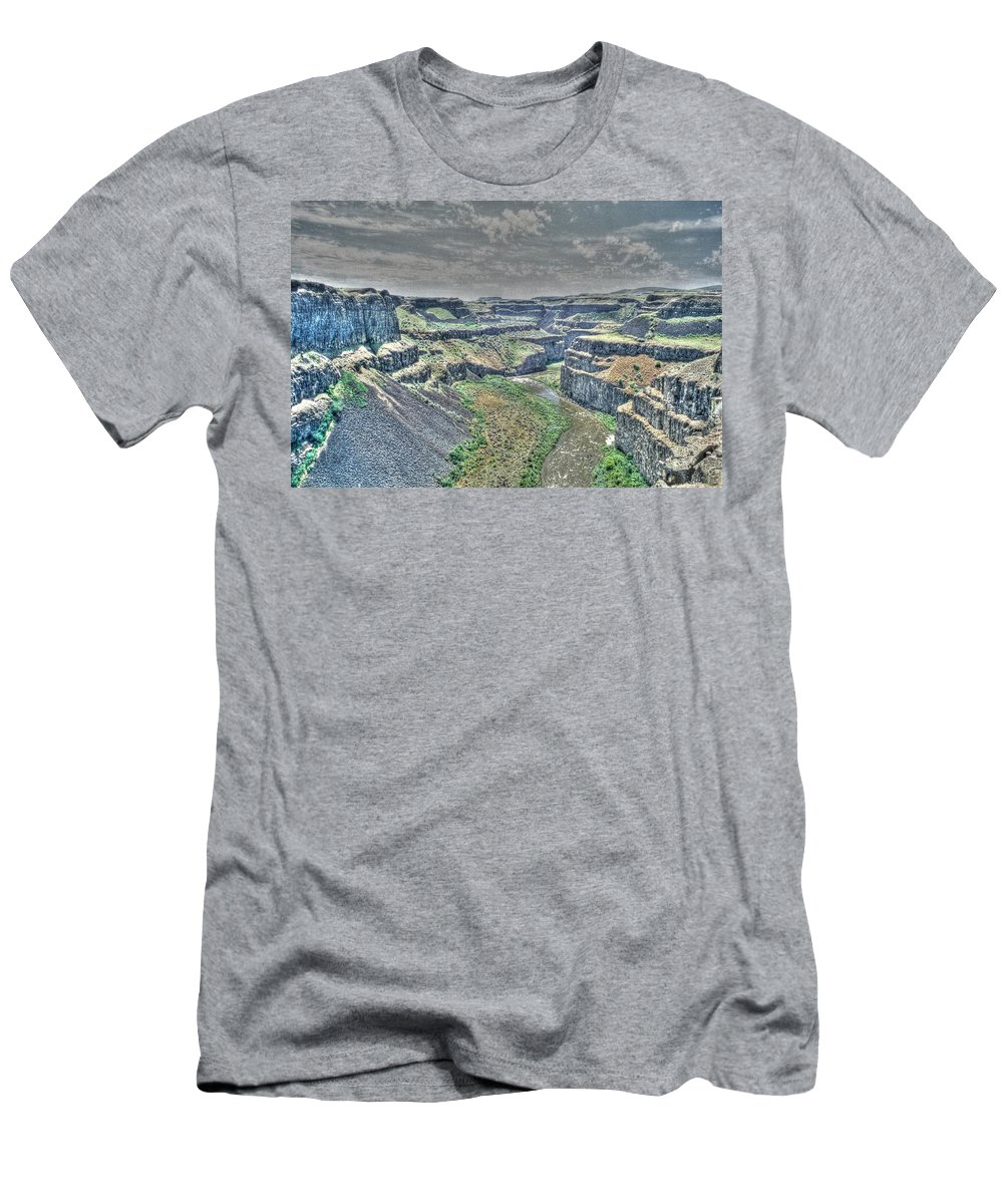 Desert Men's T-Shirt (Athletic Fit) featuring the photograph Palouse River Canyon by One Rude Dawg Orcutt