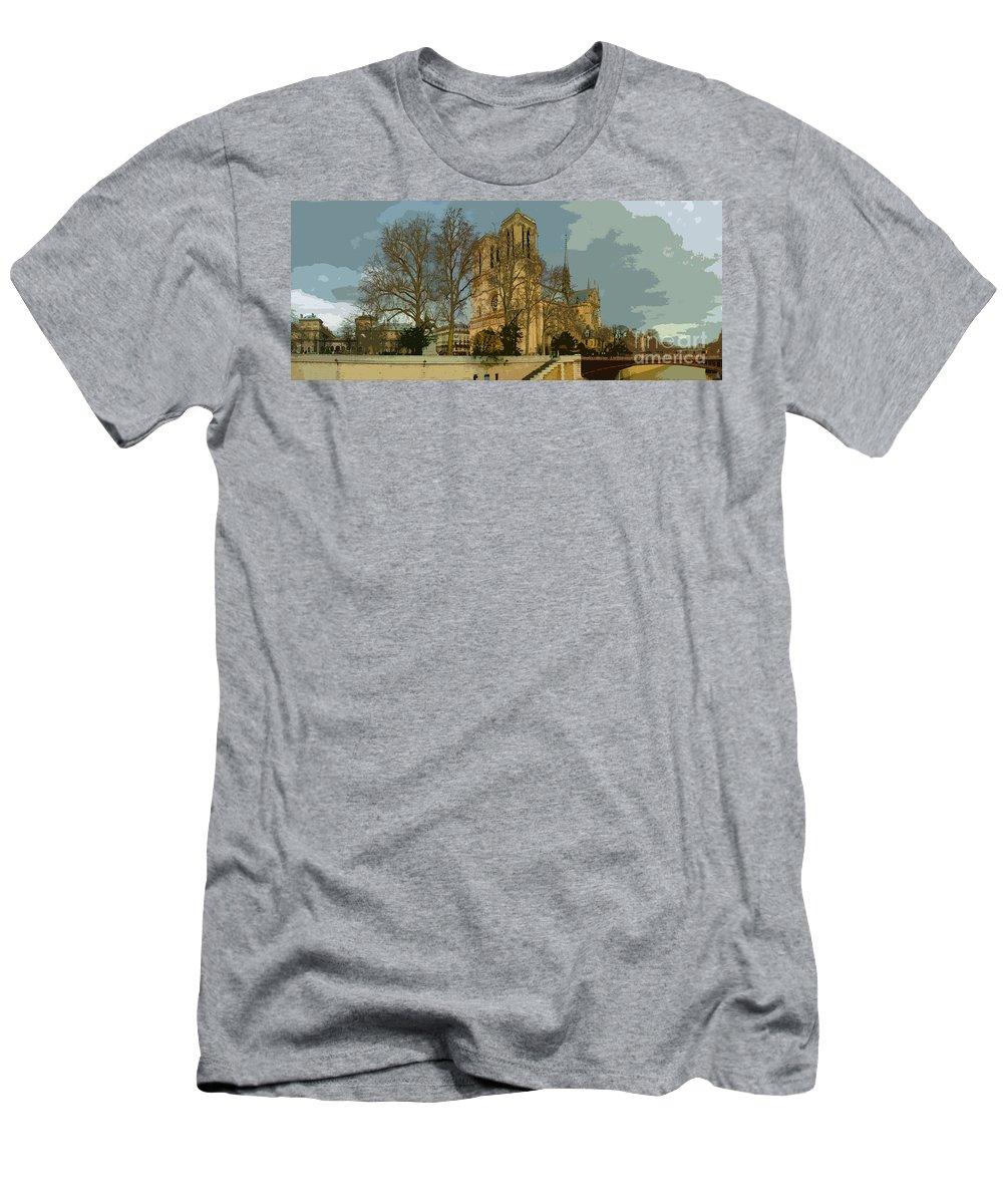 Paris Men's T-Shirt (Athletic Fit) featuring the photograph Paris 03 by Yuriy Shevchuk