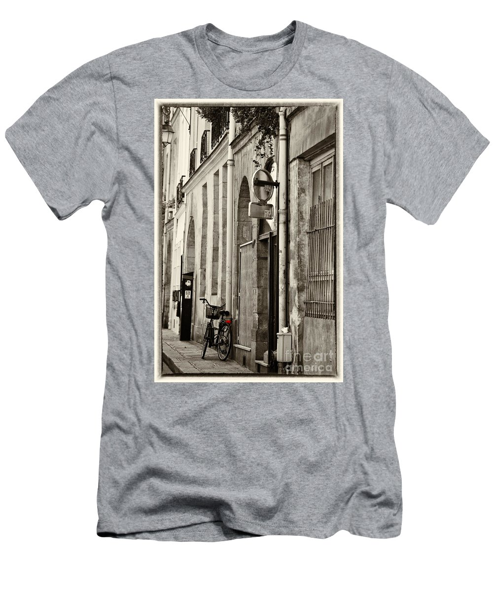 Paris T-Shirt featuring the photograph Paris bicycle by Sheila Smart Fine Art Photography