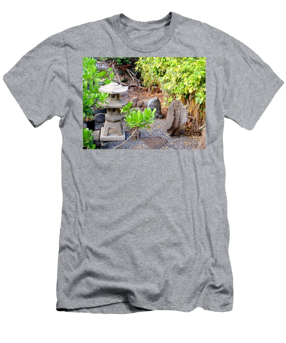 Garden Men's T-Shirt (Athletic Fit) featuring the photograph Path To The Waterfall by Mary Deal