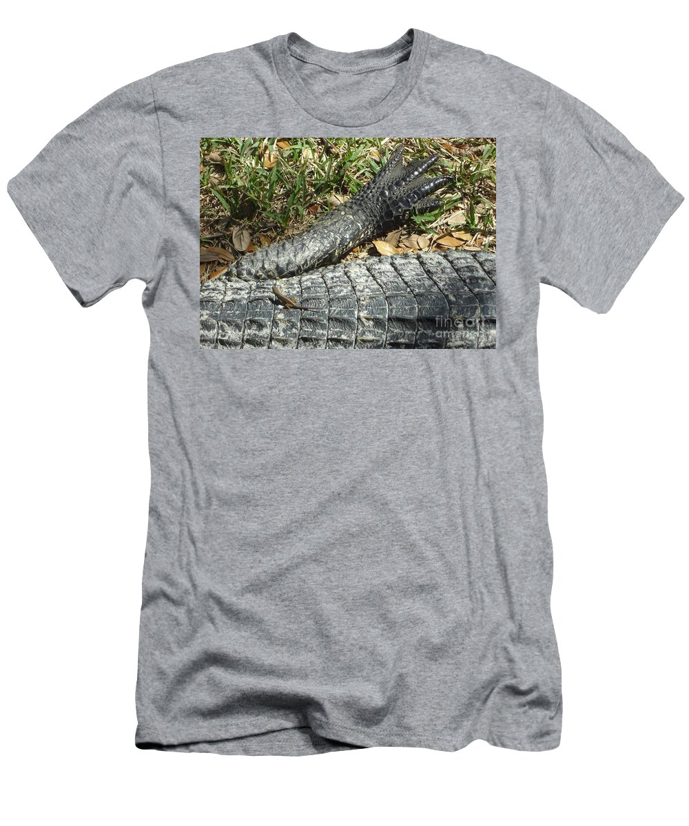 Lizards Men's T-Shirt (Athletic Fit) featuring the photograph Playing With The Big Boys by Carol Groenen