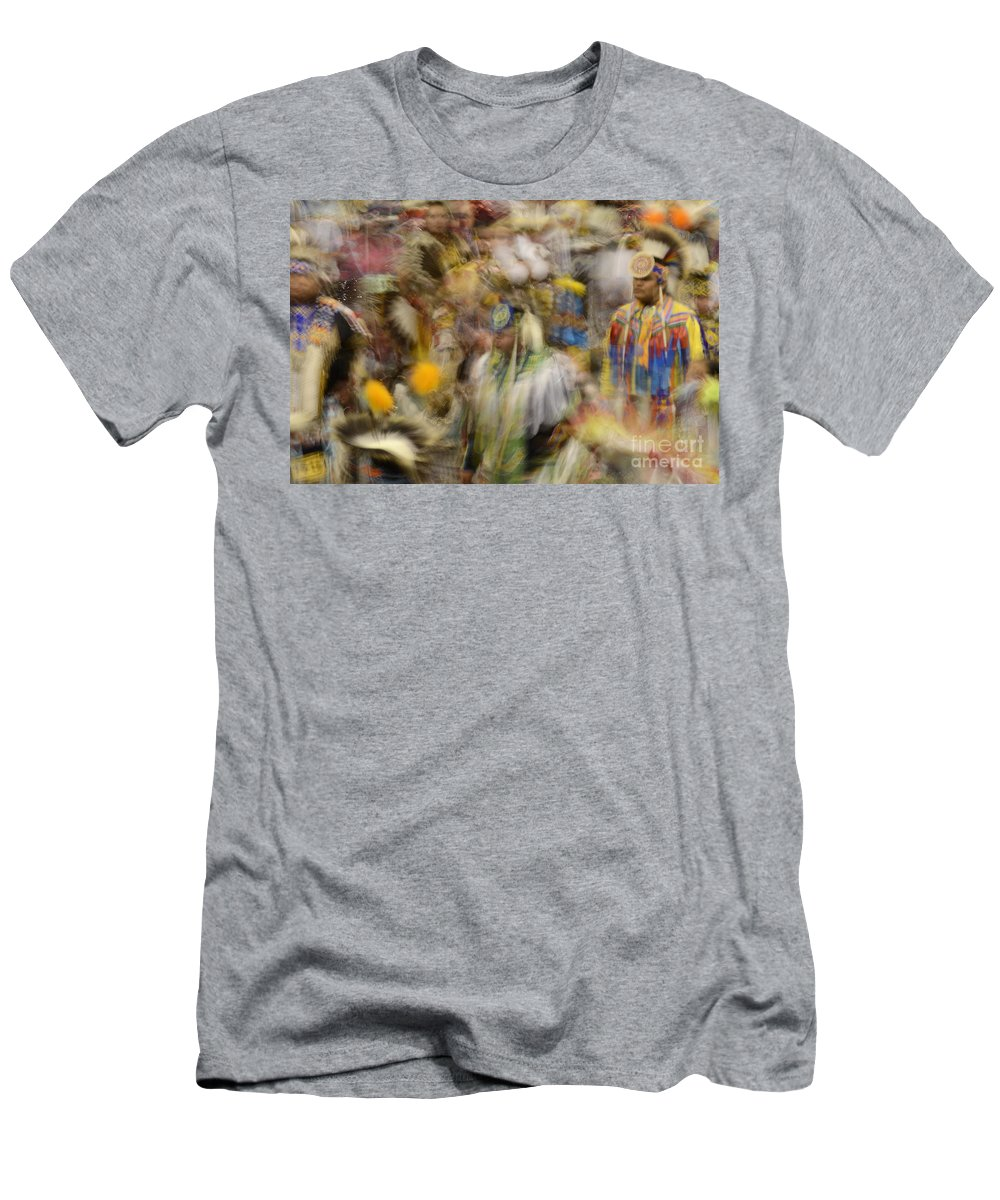 Pow Wow Men's T-Shirt (Athletic Fit) featuring the photograph Pow Wow Color by Bob Christopher