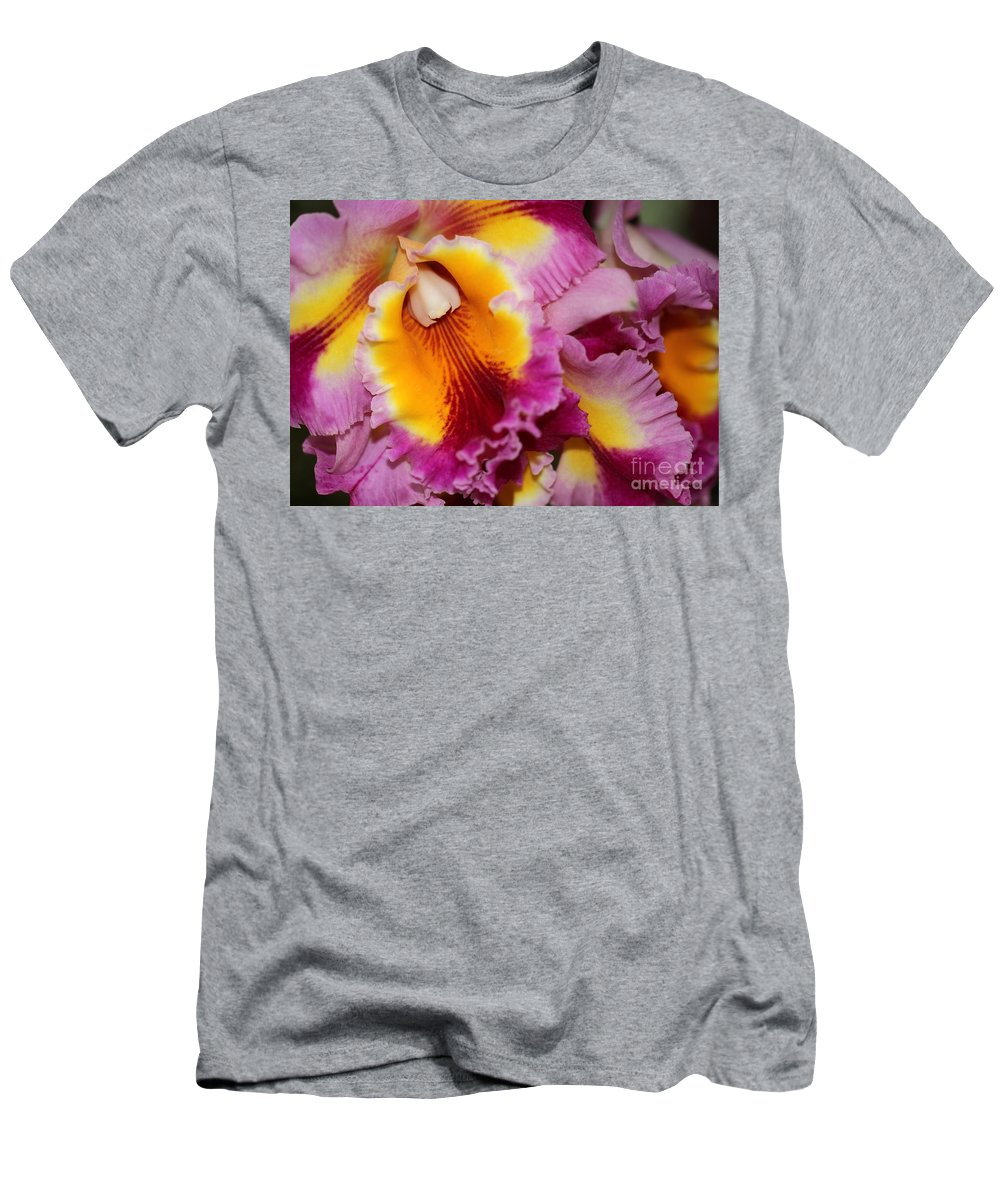 Orchid Men's T-Shirt (Athletic Fit) featuring the photograph Pretty And Colorful Orchids by Sabrina L Ryan