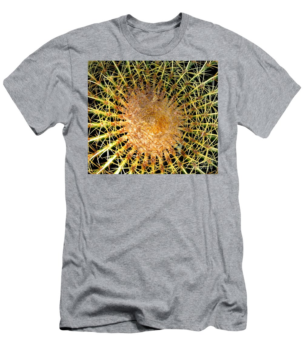 Barrell Cactus Men's T-Shirt (Athletic Fit) featuring the photograph Prickly Pattern by Marilyn Smith