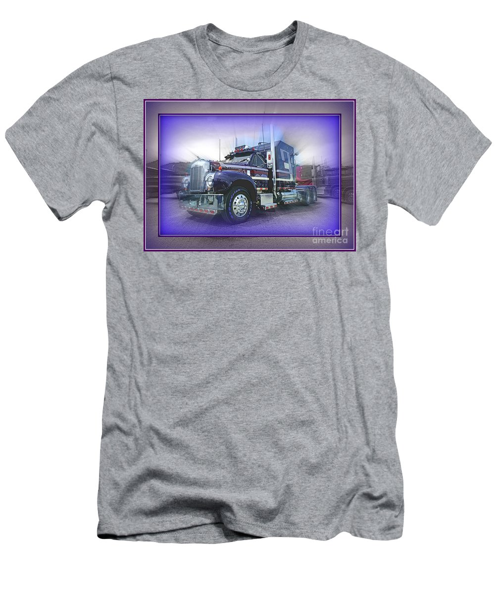 Trucks Men's T-Shirt (Athletic Fit) featuring the photograph Purple Mack Abstract by Randy Harris