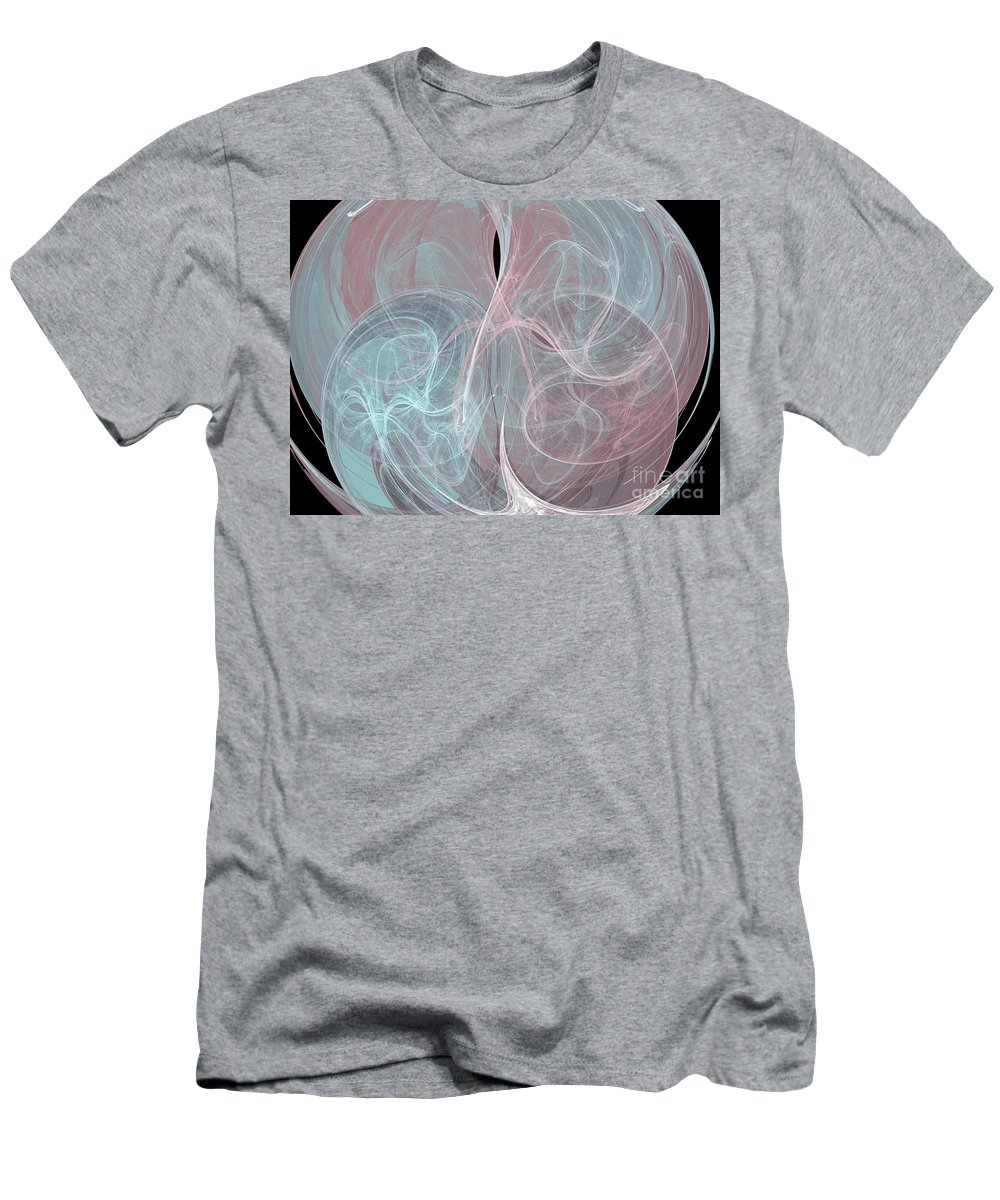 Abstract Men's T-Shirt (Athletic Fit) featuring the digital art Quadrant by Kim Sy Ok