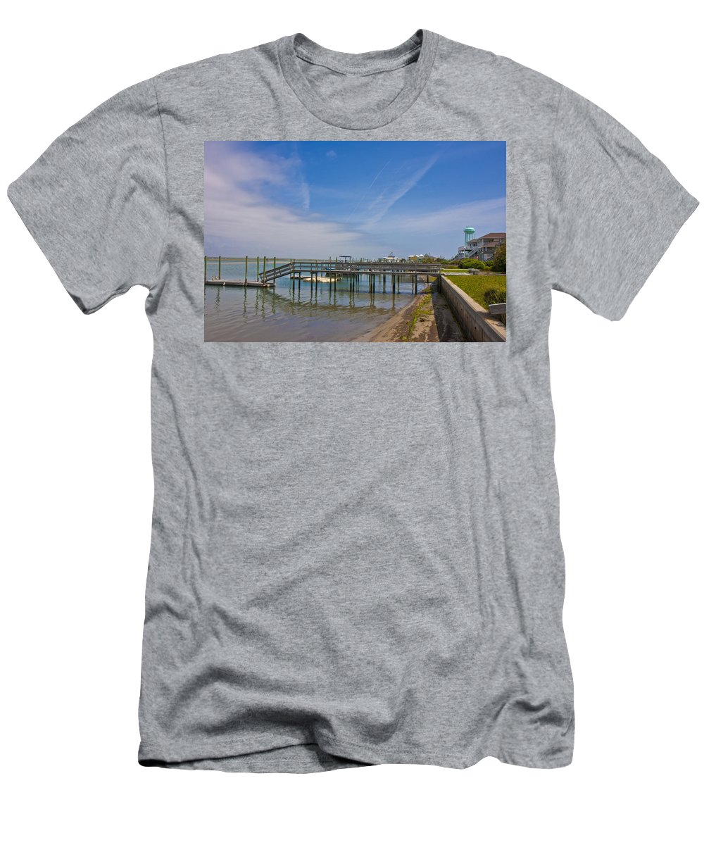 Topsail Men's T-Shirt (Athletic Fit) featuring the photograph Quiet At The Sound by Betsy Knapp