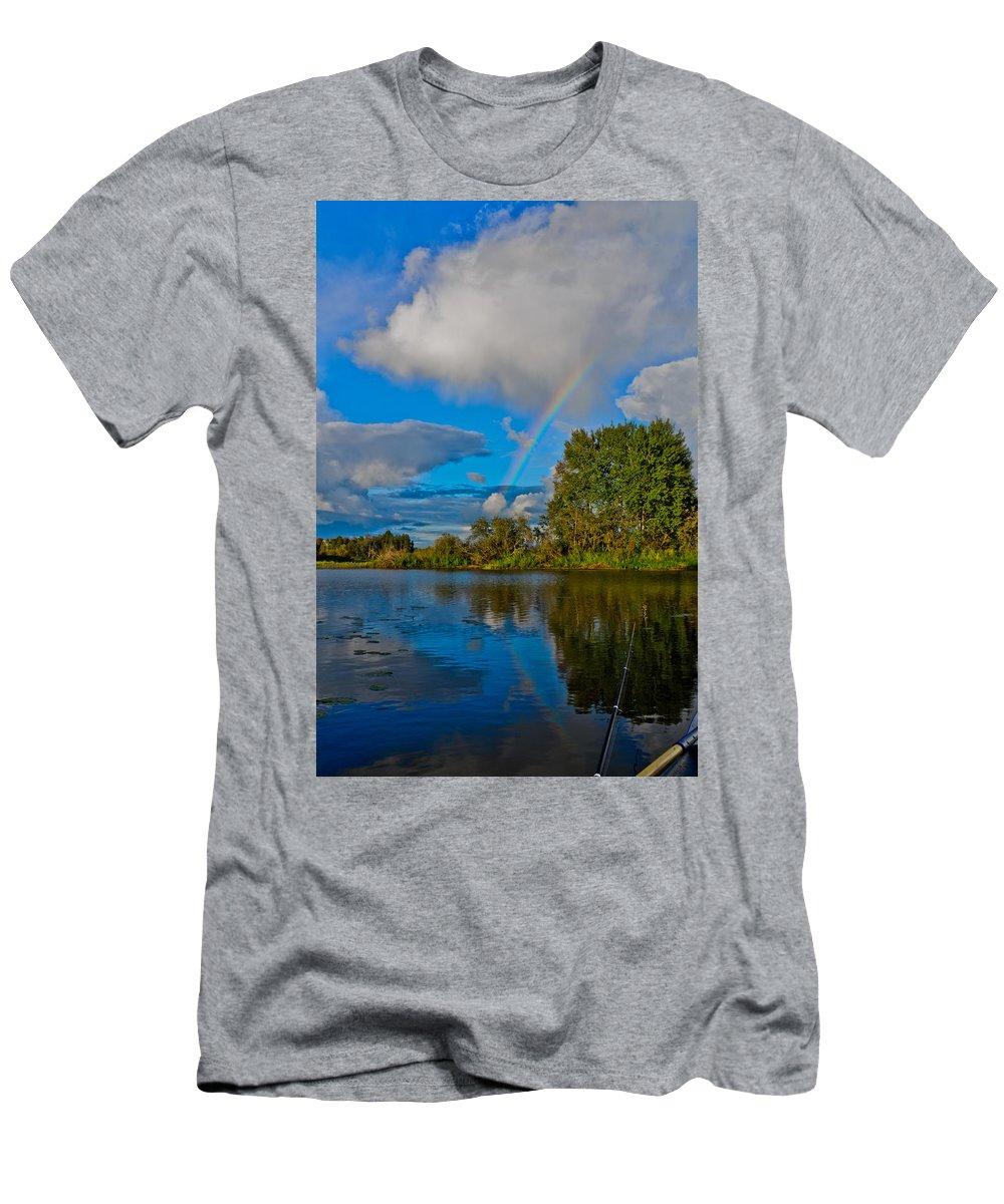 Like Men's T-Shirt (Athletic Fit) featuring the photograph Rainbow by Michael Goyberg