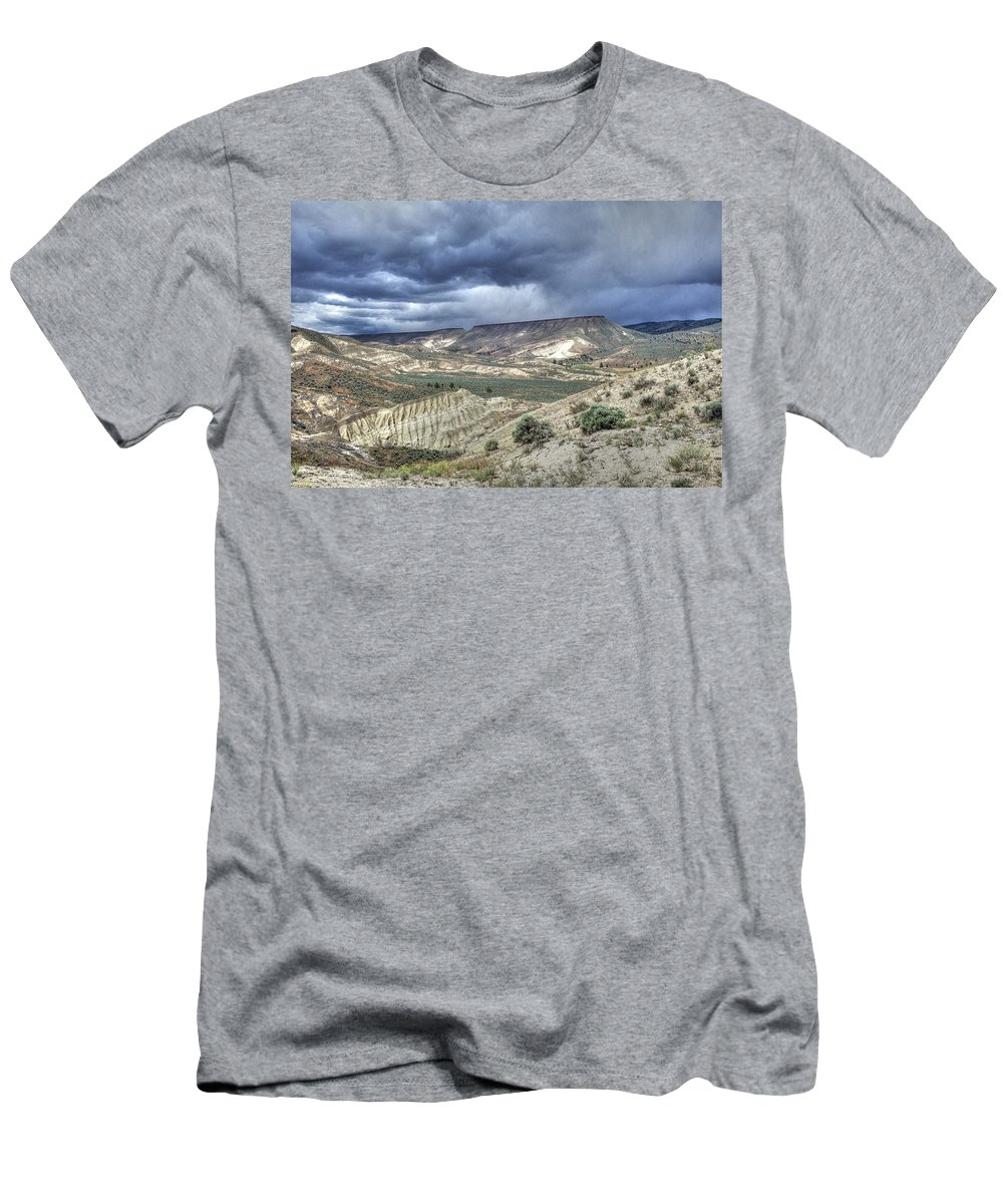 Desert Men's T-Shirt (Athletic Fit) featuring the photograph Rattlesnake Ridge Geological Site by One Rude Dawg Orcutt