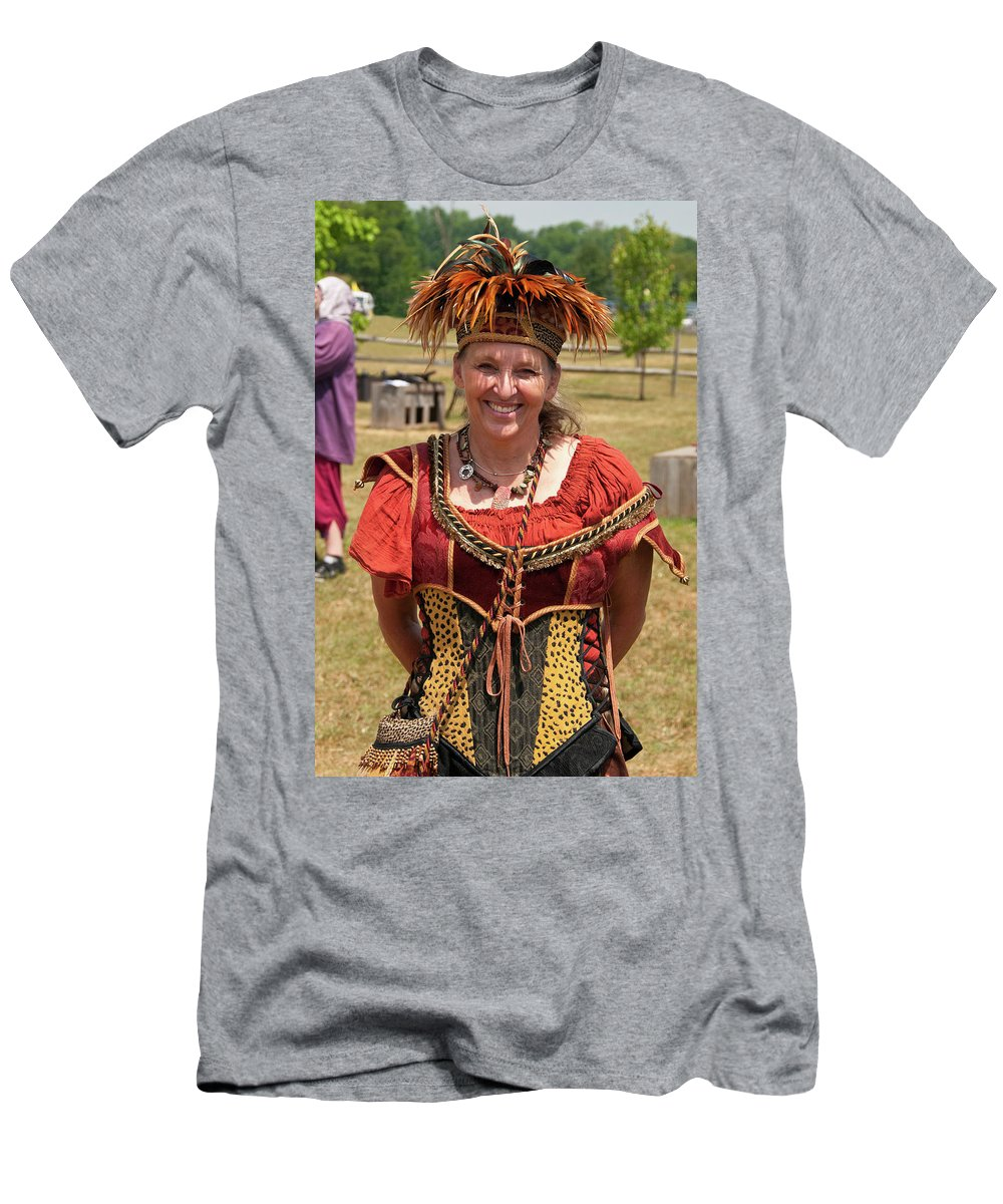 East Aurora Men's T-Shirt (Athletic Fit) featuring the photograph Rennfest Re-enactor 7396 by Guy Whiteley
