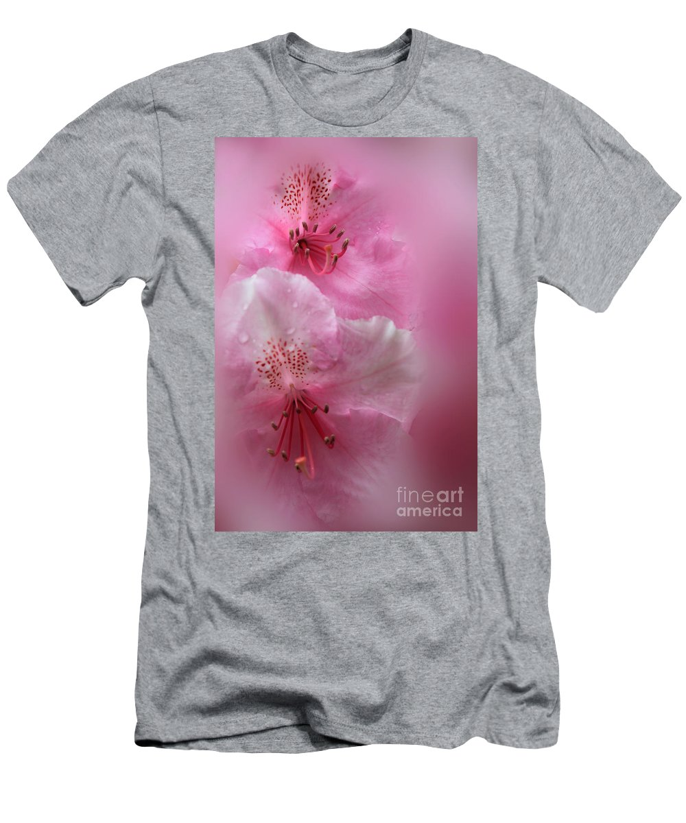 Rhododendron Men's T-Shirt (Athletic Fit) featuring the photograph Rhododendron Dreams by James Eddy
