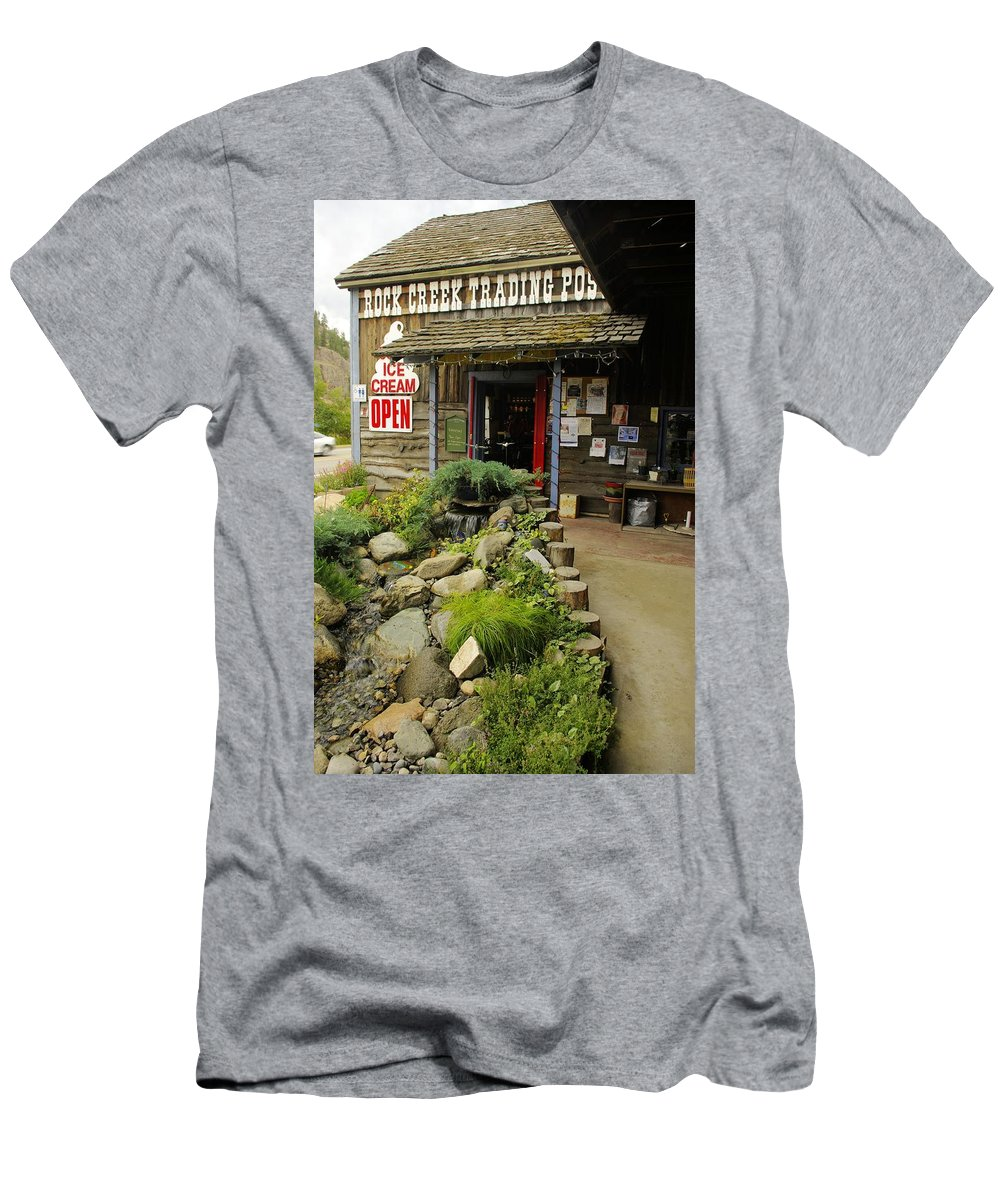 Rock Creek Men's T-Shirt (Athletic Fit) featuring the photograph Rock Creeks Trading Post by John Greaves