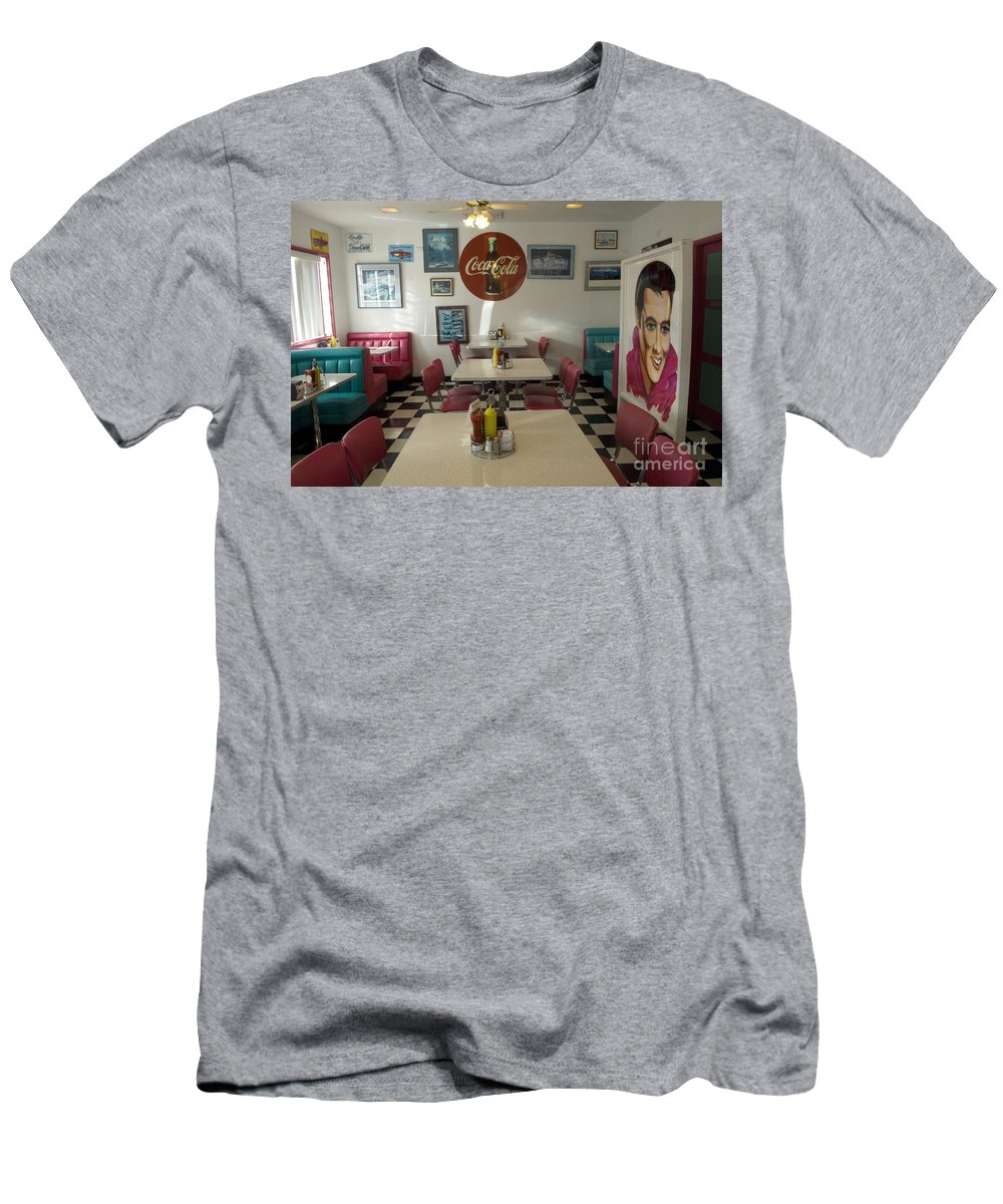 Flames Men's T-Shirt (Athletic Fit) featuring the photograph Route 66 Burgers by Bob Christopher