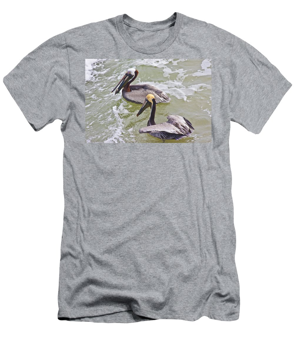 Pelican Men's T-Shirt (Athletic Fit) featuring the photograph Save Some For Me by Betsy Knapp