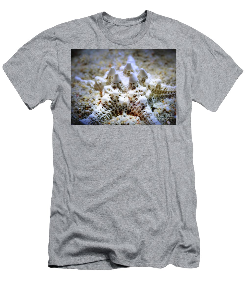 Starfish Men's T-Shirt (Athletic Fit) featuring the photograph Sea Star by Judi Bagwell