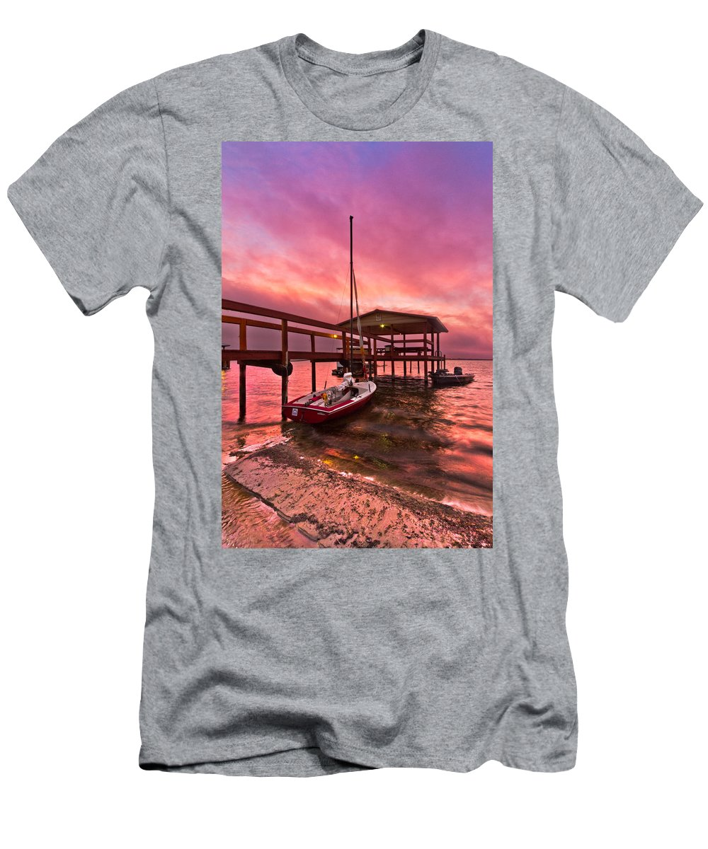 Clouds Men's T-Shirt (Athletic Fit) featuring the photograph Sebring Sailing by Debra and Dave Vanderlaan