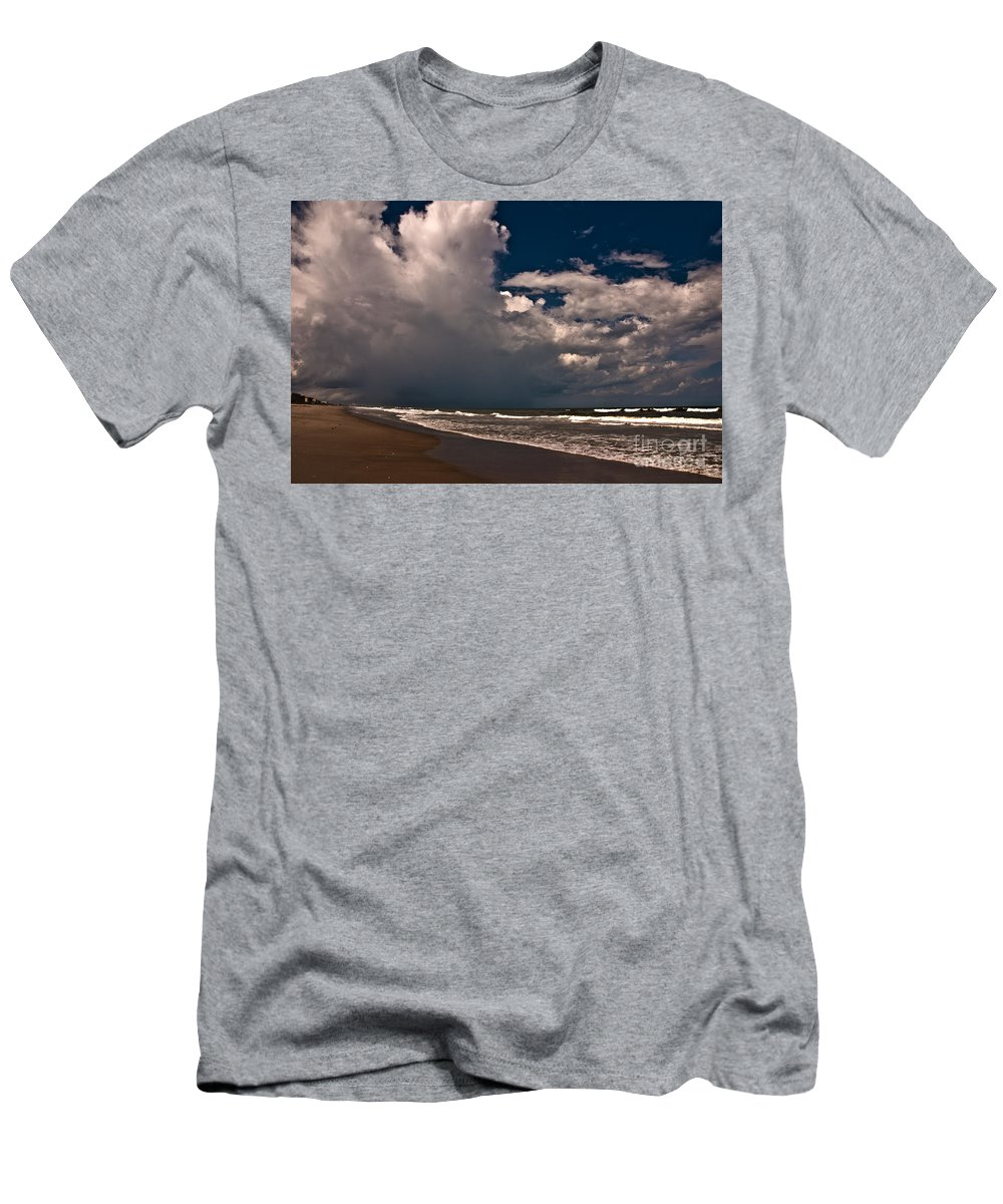 Beach Men's T-Shirt (Athletic Fit) featuring the photograph September Beach by Susanne Van Hulst