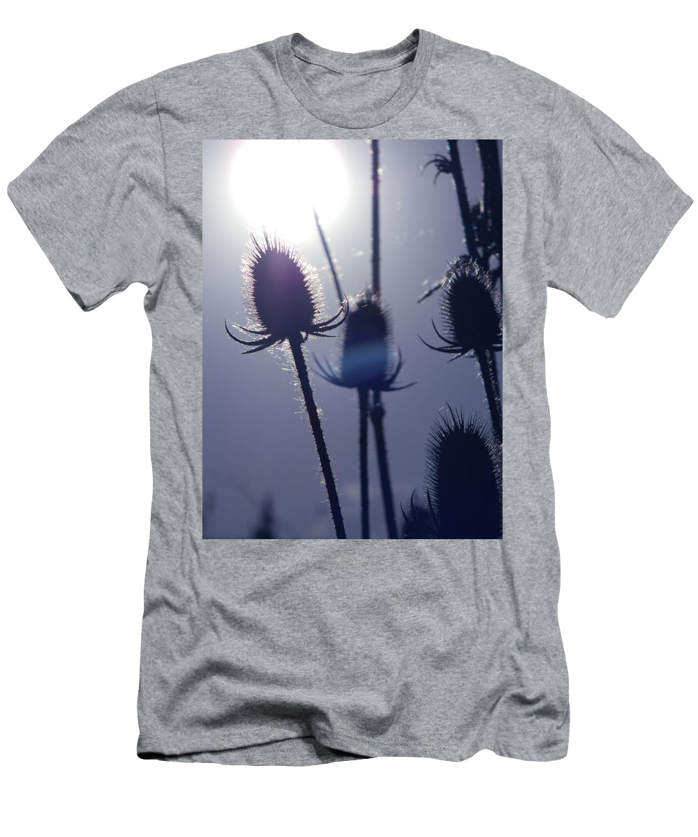 Silhouette Of Weeds Men's T-Shirt (Athletic Fit) featuring the photograph Silhouette Of Weeds by Dawn Marshall