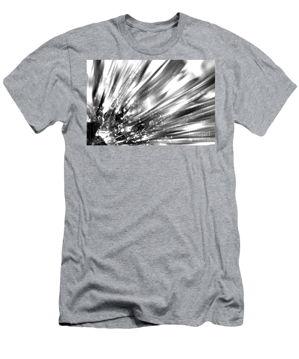 Silver Men's T-Shirt (Athletic Fit) featuring the photograph Silver Explosion by Simon Bratt Photography LRPS