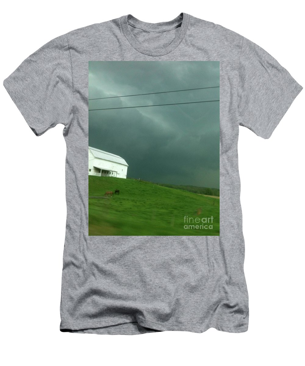 Sky Men's T-Shirt (Athletic Fit) featuring the photograph Sky Happens by Trish Hale