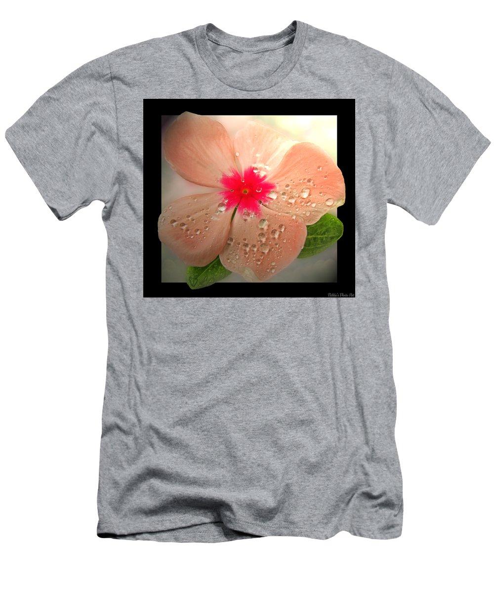 Flower Men's T-Shirt (Athletic Fit) featuring the photograph So Impatient by Debbie Portwood