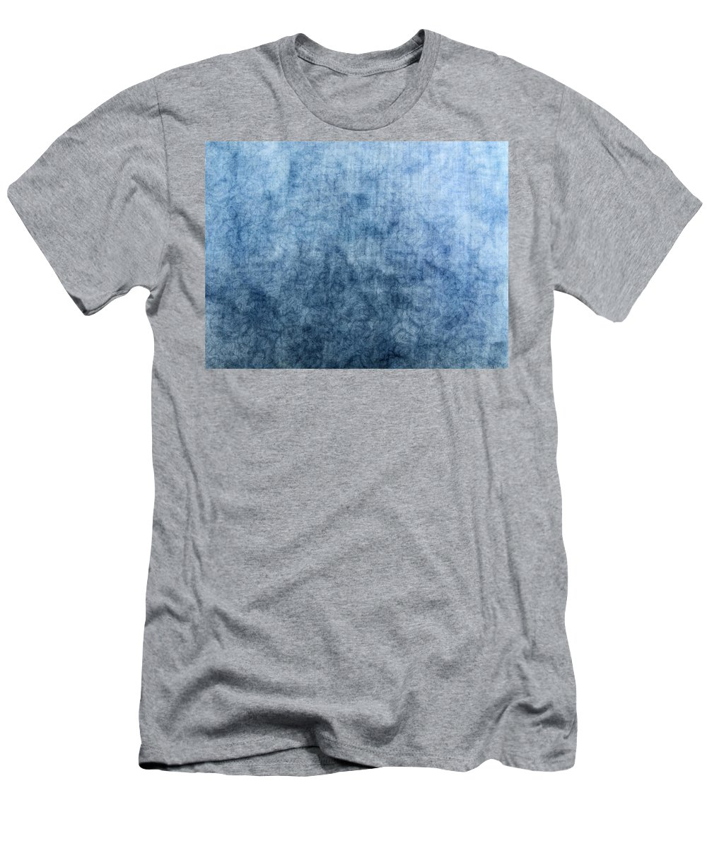 Abstract Men's T-Shirt (Athletic Fit) featuring the digital art Soft Blue by Debbie Portwood
