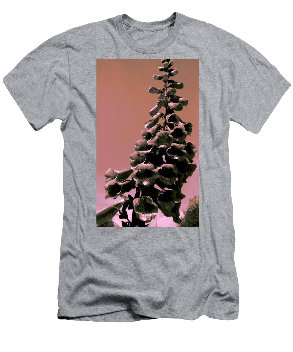 Foxglove Men's T-Shirt (Athletic Fit) featuring the painting Softly by Renate Nadi Wesley