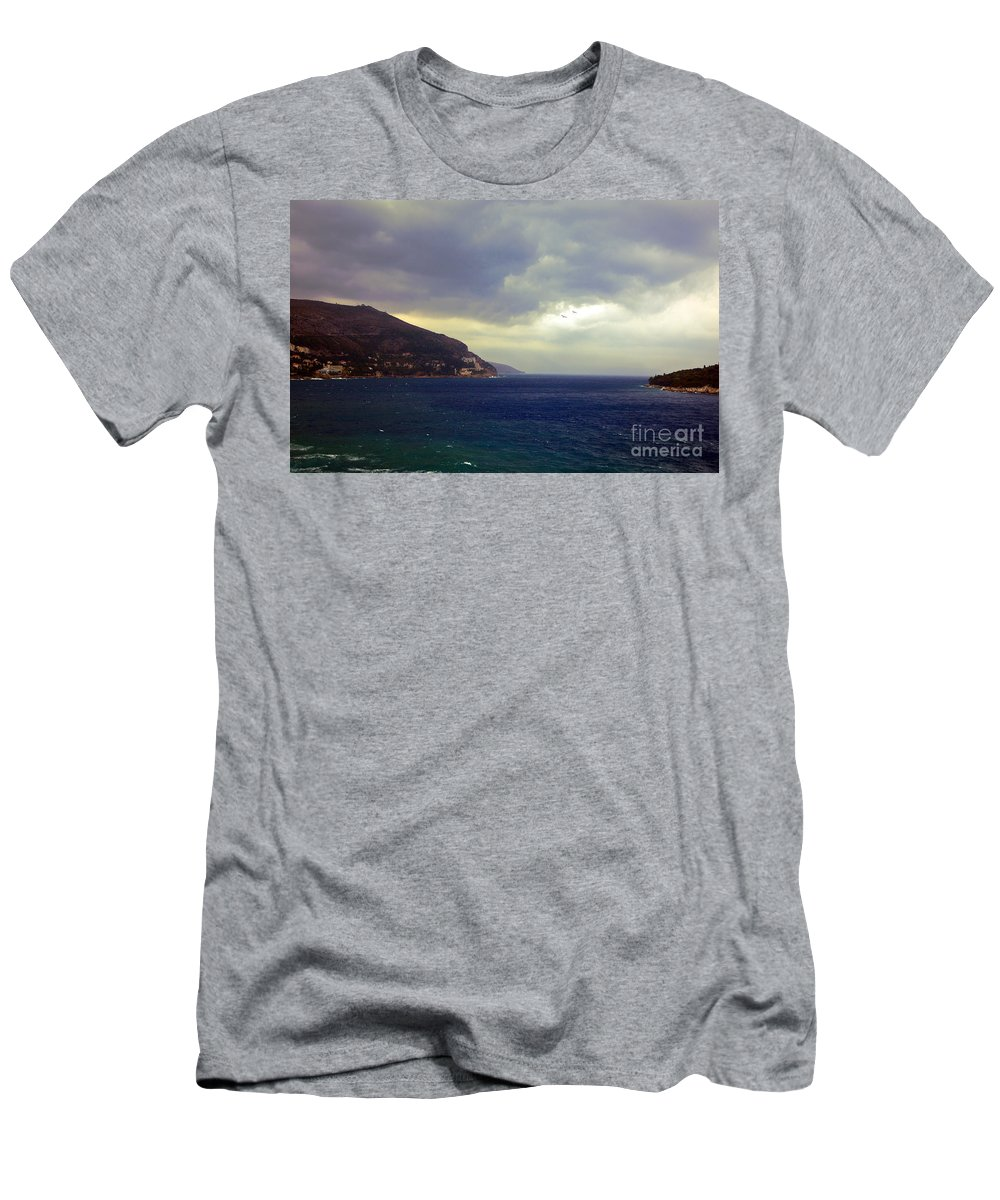 Seascape Men's T-Shirt (Athletic Fit) featuring the photograph Somewhere Beyond The Sea 1 by Madeline Ellis