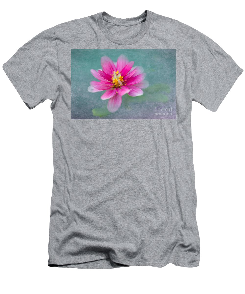 Zinnia Men's T-Shirt (Athletic Fit) featuring the photograph Springtime by Betty LaRue