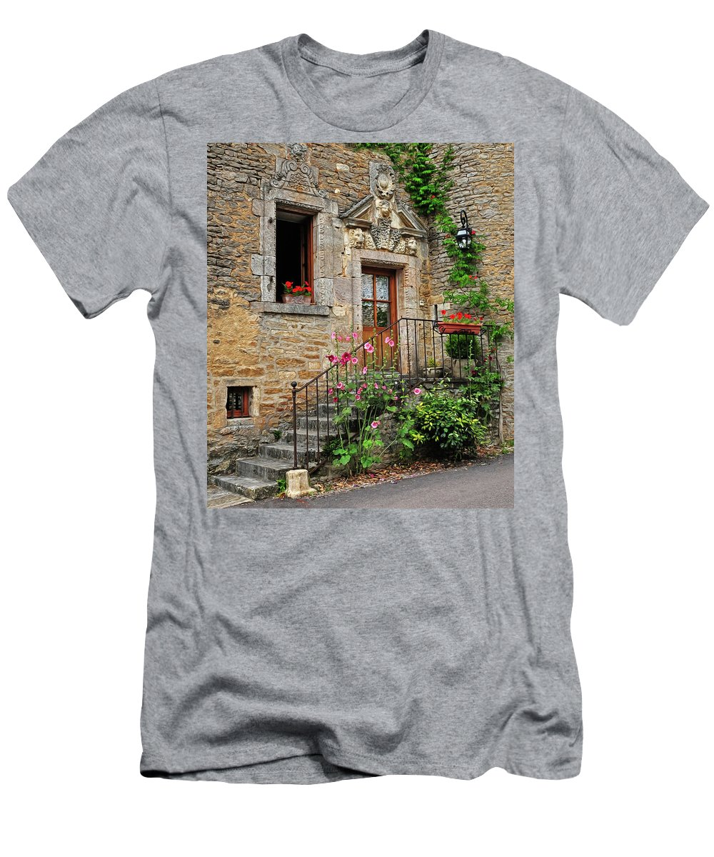 Stairway Men's T-Shirt (Athletic Fit) featuring the photograph Stairway Provence France by Dave Mills