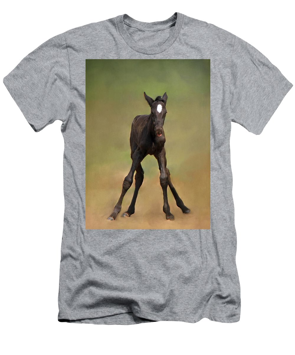 Animal Men's T-Shirt (Athletic Fit) featuring the photograph Standing On All Fours by Davandra Cribbie