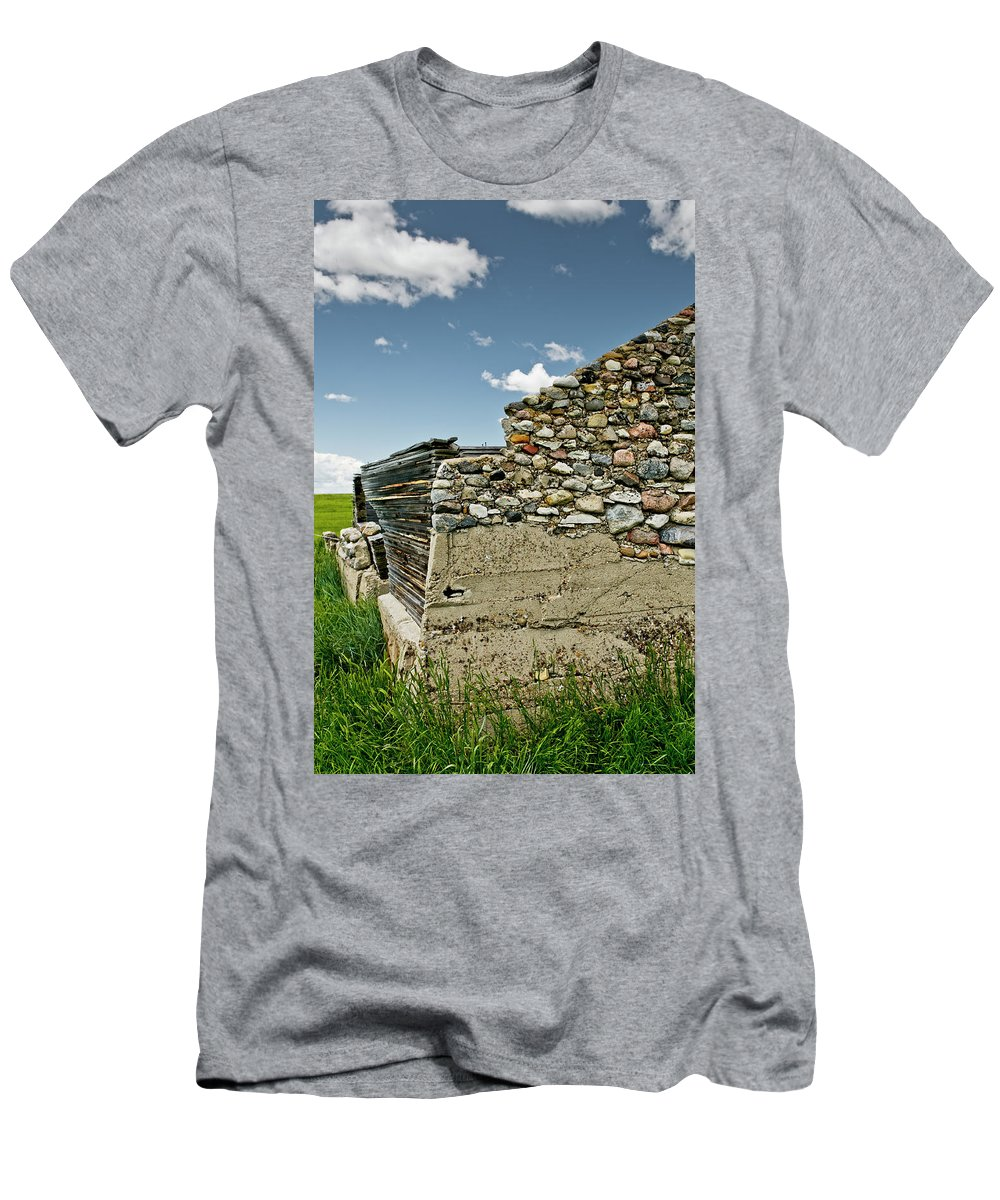 Americas Men's T-Shirt (Athletic Fit) featuring the photograph Stone Wall by Roderick Bley