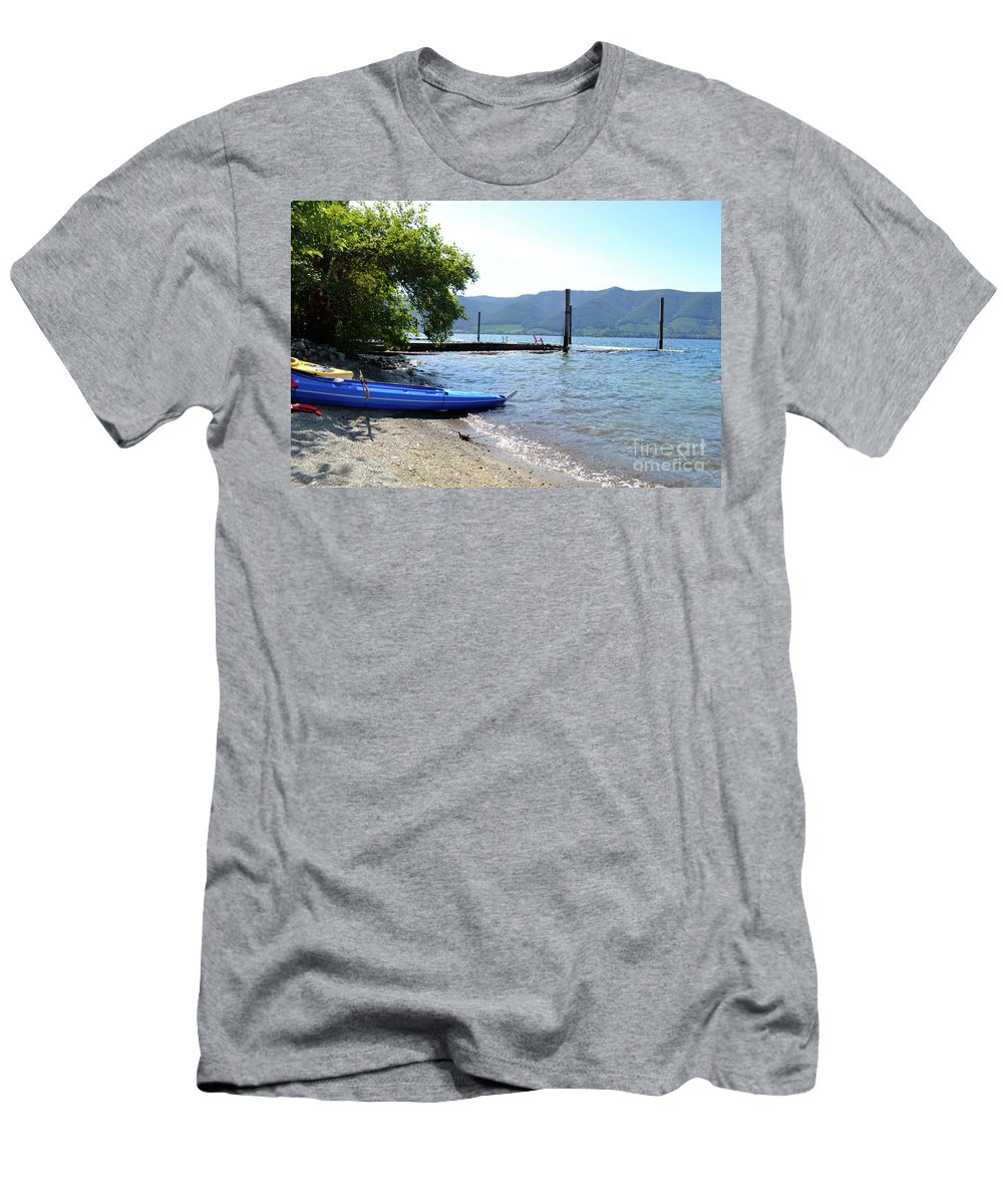 Ocean Men's T-Shirt (Athletic Fit) featuring the photograph Summer Kayak by Traci Cottingham