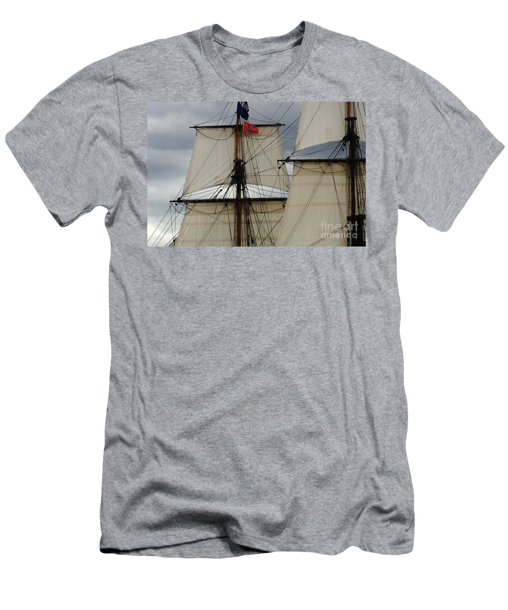 Tall Ship Men's T-Shirt (Athletic Fit) featuring the photograph Tall Ships by Bob Christopher