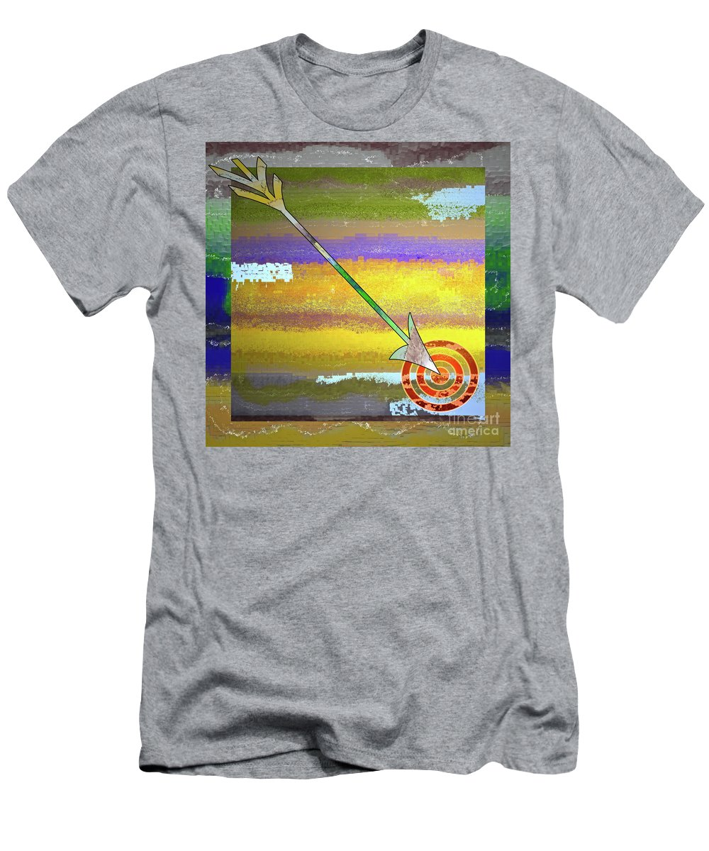 Target Men's T-Shirt (Athletic Fit) featuring the digital art Target by Gwyn Newcombe
