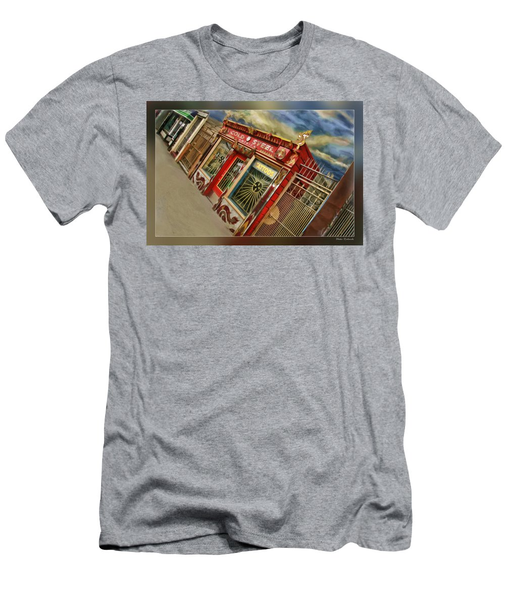 Art Photography Men's T-Shirt (Athletic Fit) featuring the photograph Tattoo Shop by Blake Richards