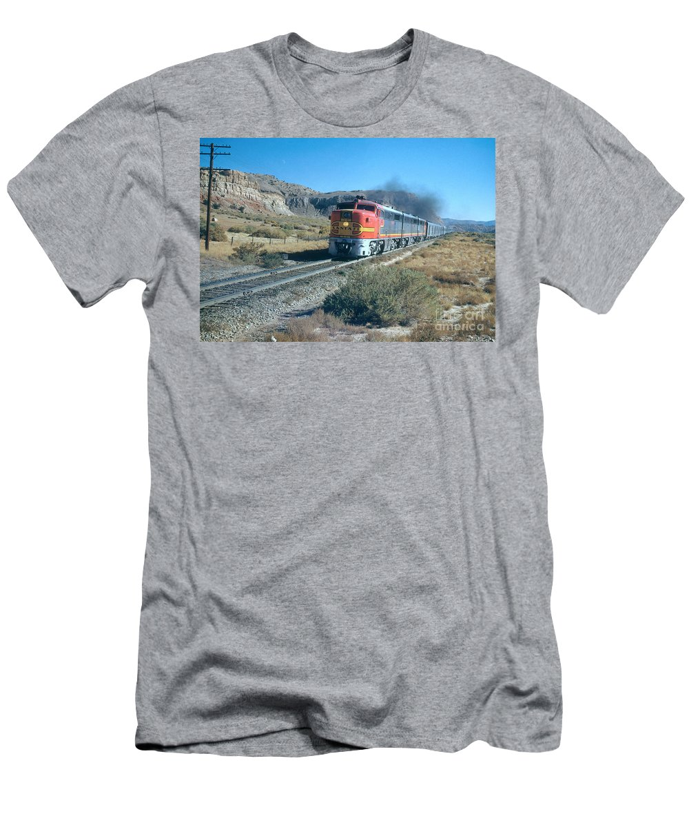 The Chief Men's T-Shirt (Athletic Fit) featuring the photograph The Chief Train by Photo Researchers, Inc.