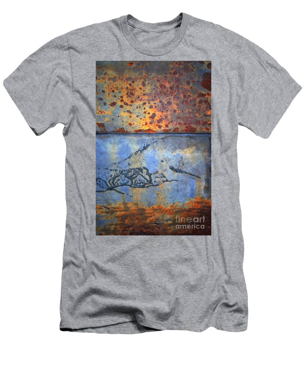 Texture Men's T-Shirt (Athletic Fit) featuring the photograph The Garbage Can by Tara Turner