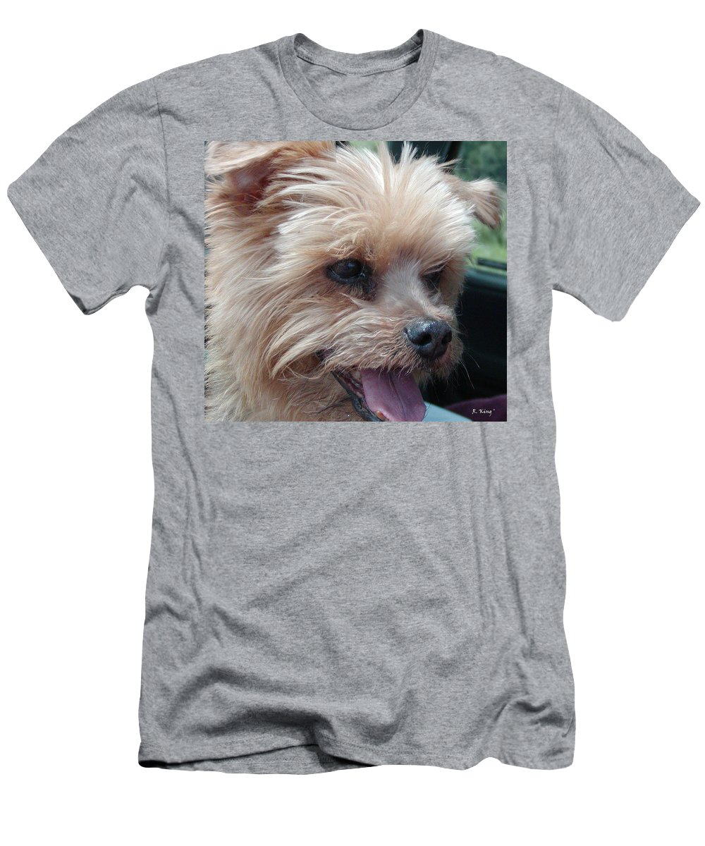 Roena King Men's T-Shirt (Athletic Fit) featuring the photograph The Late Rocky by Roena King