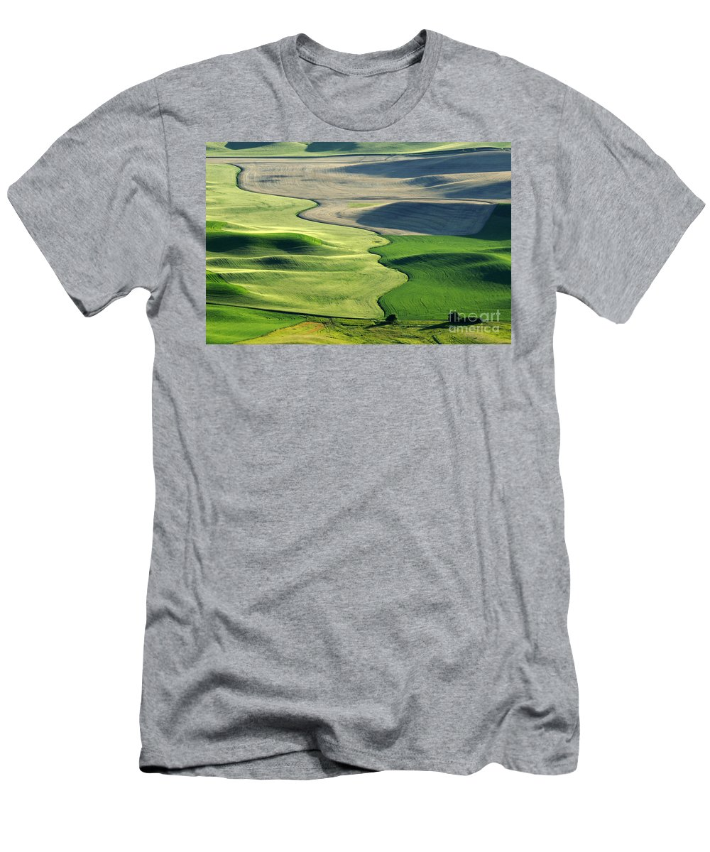 Palouse Men's T-Shirt (Athletic Fit) featuring the photograph The Palouse 2 by Bob Christopher
