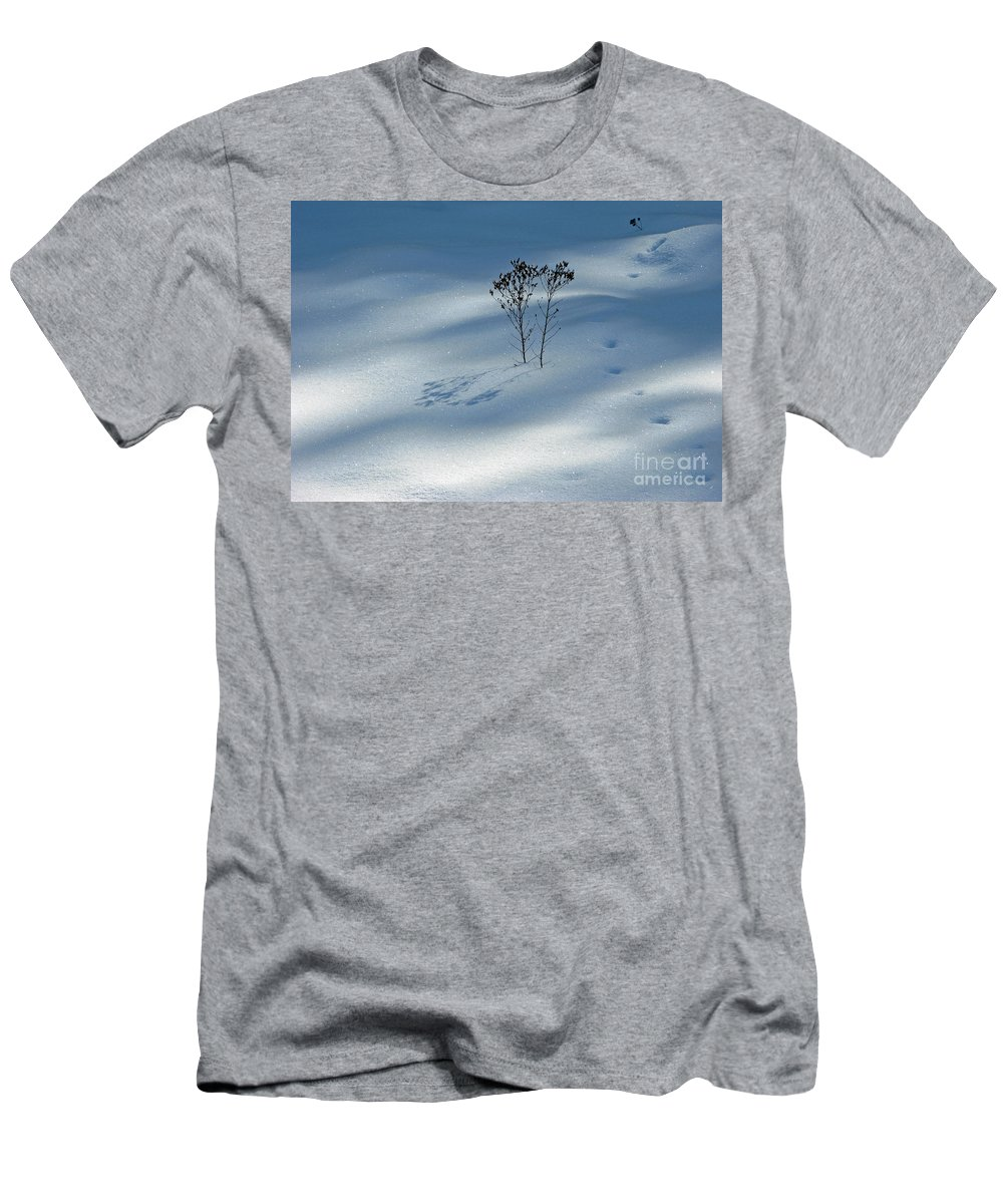 Nature Men's T-Shirt (Athletic Fit) featuring the photograph The Shadow Of Loneliness by Ausra Huntington nee Paulauskaite