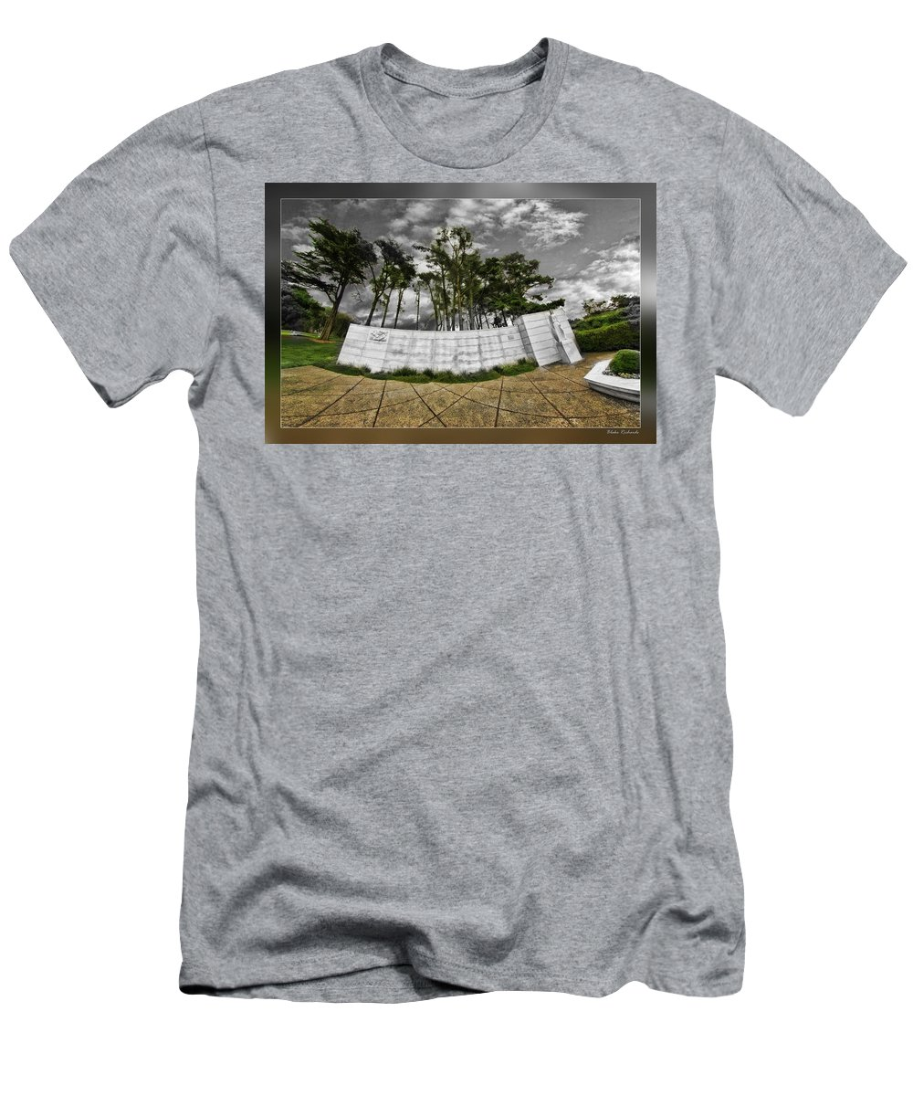 Art Photography Men's T-Shirt (Athletic Fit) featuring the photograph The World War Two Monorail by Blake Richards