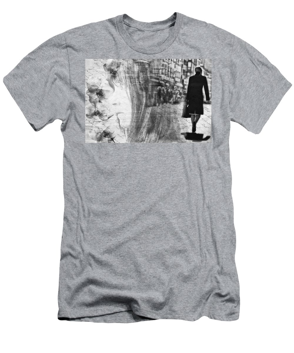 Lady Men's T-Shirt (Athletic Fit) featuring the photograph Thinking Of You by Claudia Moeckel