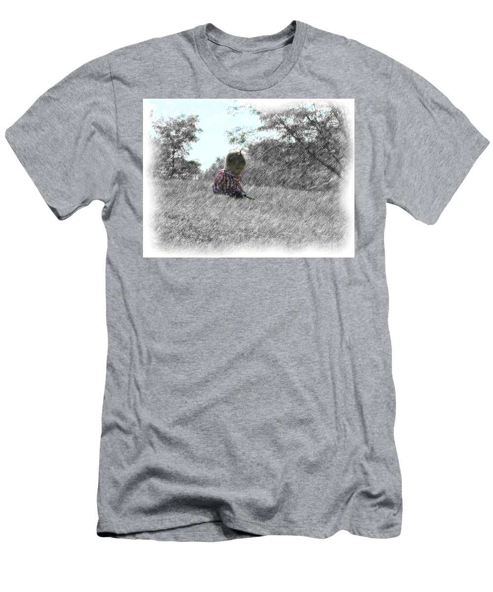 Outdoors Men's T-Shirt (Athletic Fit) featuring the drawing Time To Relax by Adam Vance