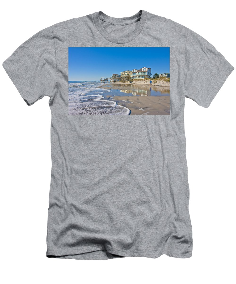 Topsail Men's T-Shirt (Athletic Fit) featuring the photograph Topsail North End by Betsy Knapp