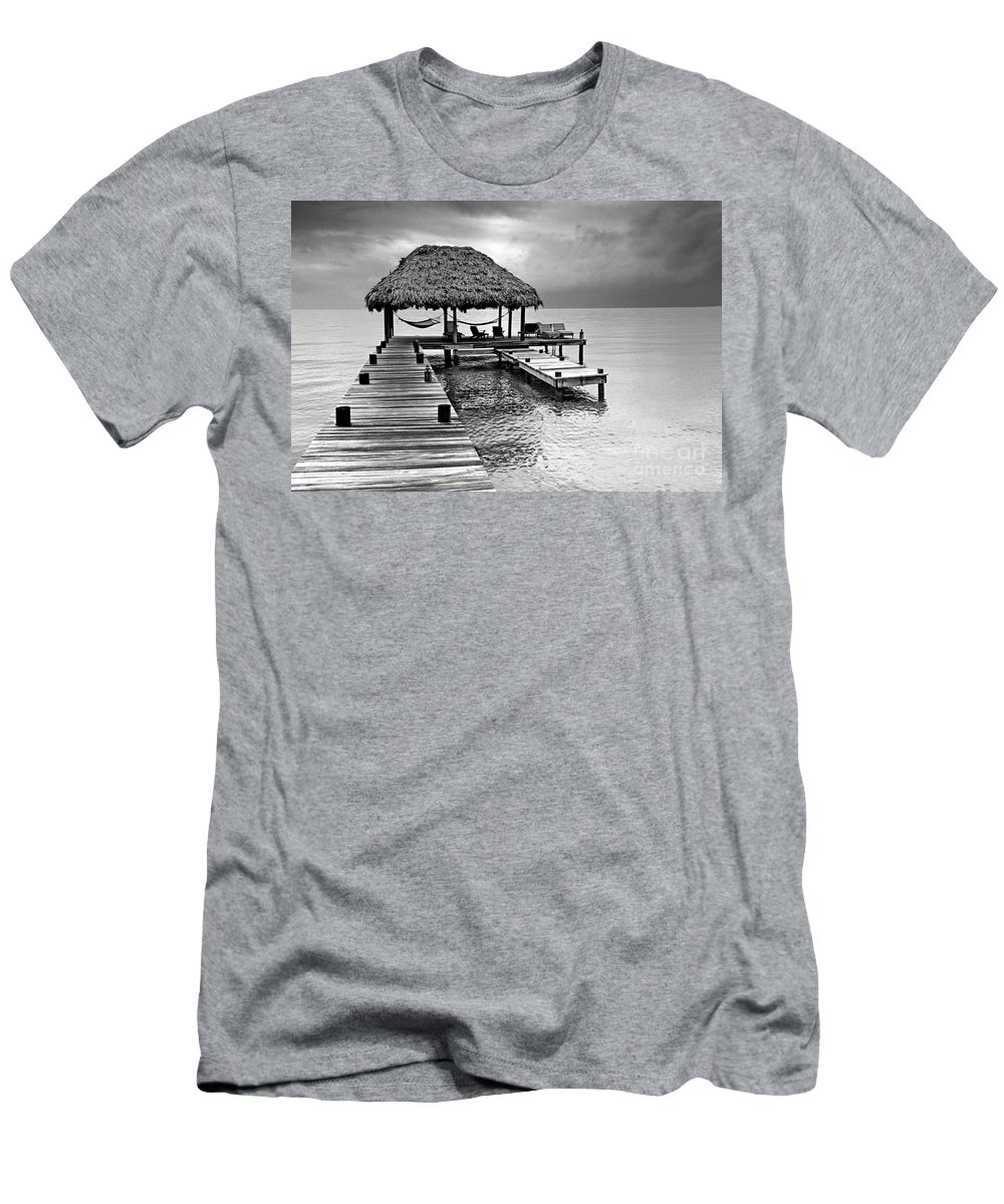 Ocean Men's T-Shirt (Athletic Fit) featuring the photograph Tranquility by Bruce Bain